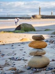 Stone Scuplture. (Aranelinya) Tags: canon6dii balancingstones balancing pileofstones beachart sand art beach whitby whitbyharbourwall pebbles stonesculpture 6dmk2 stones ef2470mmf4 england unitedkingdom gb
