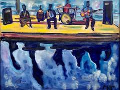 Blue notes (The Big Jiggety) Tags: dakar senegal jazz band ocean pool oil canvas huile toile oleo lienzo art arte kunst music musicians atlantic jam session