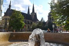 St. Peter at Poříčí, Prague, Czech Republic (Manoo Mistry) Tags: prague pragueczechrepublic europe tourism tourist church churchcathedral nikon nikond5500 tamron tamron18270mmzoomlens fountain sky trees