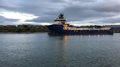Grampian Sceptre - Aberdeen Harbour Scotland - 16/9/18 (DanoAberdeen) Tags: supplyships northstarshipping danophotography seaport vessel boat ship iphoneography iphonevideo mpeg video amateur candid 2018 abdn psv harbour aberdeen danoaberdeen grampiansceptre tug abz uk seafarers maritime sailor tugs boats vessels ships gb scotland metal offshore oilrigs oilships torry northeast clouds autumn summer winter spring marineoperationscentre pocraquay scotch sailors workboats blue sky water tagged geo drilling errv tanker cargoships aberdeenscotland