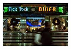 Tick Tock Diner (philippe*) Tags: newyork night urban diner nightlights neon