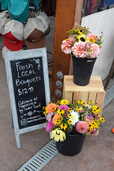 Finnriver Cidery 043 (Donna's View) Tags: nikon d3300 finnriverfarmandcidery finnrivercidery farm cidery cider bouquets flowers chalkboard sign handcraftedciders