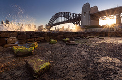 Sydney Harbour at Bay (Orange Orb Photography) Tags: sun ferry sydneyharbourbridge sunset kirribilli wharf jeffreystreetwharf splash sydneyharbour newsouthwales australia