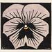 Woodcut flower (1920) by Julie de Graag (1877-1924). Original from the Rijks Museum. Digitally enhanced by rawpixel.