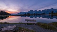 Wilder Kaiser am Abend (19MilkyWay89) Tags: landscape sunset evening sky light sun lake mirror seascape austria
