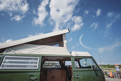 Wings & Wheels Spectacular - Owls Head Transportation Museum, Maine (Jonmikel & Kat-YSNP) Tags: owlsheadtransportationmuseum maine me midcoast midcoastmaine mainecoast ohtm airshow summer fun festival vintage planes vw vwbus poptop camper carshow