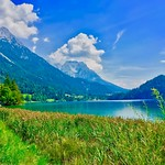 Hintersteiner See with the Alps near  Kufstein in Tyrol, Austria thumbnail