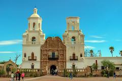 San Xavier Mission, Arizona, USA (rociomcoss) Tags: mission san javier church southwest adobe desert usa arizona steeple worship chatholic mass