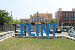 FLINT (Flint Foto Factory) Tags: flint michigan urban city summer august 2018 home town hometown annual backtothebricks car festival downtown park geneseetowers former site demolished skyscraper capitol theatre sign signage letters green space geneseecounty