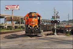 BNSF 2235 (Justin Hardecopf) Tags: bnsf burlingtonnorthernsantafe 2235 emd gp382 local manifest freight stjoseph missouri railroad train