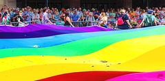 TAKING UP A COLLECTION - MPLS PRIDE 2018 (panache2620) Tags: glbt parade gay pride minneapolispride2018 eos canon candid streetphotography street people photojournalism socialdocumentary urban city colorful bold color