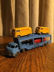 """Matchbox"" Car Transporter with Dinky Dublo cars. (63vwdriver) Tags: matchbox lesney car transporter bedford dublo dinky toys vw bus van volkswagen pickup"