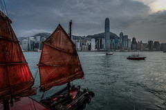 Sailing to Hong Kong (mcalma68) Tags: hong kong boat skyline