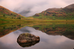 Blea Tarn (Andy Watson1) Tags: bleatarn langdale lakedistrictnationalpark lakedistrict cumbria sidepike reflection rock light longexposure england unitedkingdom greatbritain landscape photography calm serene clouds cloudinversion summer morning countryside scenery view nature