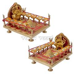 Das Mahavidya Chowki (Ten Mahavidyas) | From Vedic Vaani™ (vedicvaani.com) Tags: ten mahavidyas wisdom goddesses specturm kaali mata hindu goddess feminine divinity horrific mahavidya vidya shakti kali tara shodashi bhuvaneshvari chinnamasta bhairavi dhumawati bagalamukhi matangi kamala dasmahavidya bhoga moksha spiritual liberation shining brass idols murti statue vedic vaani voice vedas