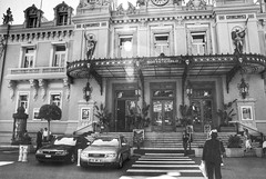 Crossing to another world (LUMEN SCRIPT) Tags: light tourism travel crossing monaco streetphotography street architecture casino blackandwhite monochrome backlight flare