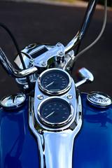 Hitting the road (ccarl_03) Tags: motorcycle dyna harley davidson bike tank gauge tachometer speedometer road ride lowrider fxdl
