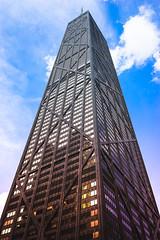 875 North Michigan Avenue (Photographer X™) Tags: john hancock center 875 north michigan avenue tower observation deck 360 rodzilla sony a7ii samyang 35mm f28 blue sky