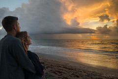 Nice Couple (MyKeyC) Tags: dawn sunrise beach atlanticocean stormclouds ocean delraybeach couple people pose newlyweds