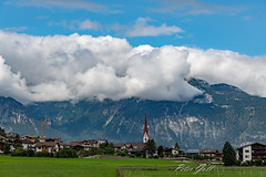 Wolkenbedeckte Berge im Zillertal (Peter Goll thx for +8.000.000 views) Tags: schlitters tirol österreich at alps alpen mountain zillertal austria landscape landschaft dorf village