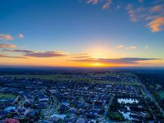Sunrise (Thunder1203) Tags: sunrise drone djiglobal djiphantom4advanced aerialphotography quadcopter worldofdrones dronelife urban houses rooftops elevation distance