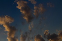 Yellow and Blue (katyearley) Tags: 55mm t6 rebel canon texas evening sun sunset fluffy clouds blue yellow