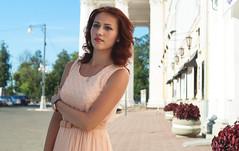 DSC07299-1 (i.gorshkov) Tags: girl portrait fashion look female sun light posing model mood street cute pretty sight outdoors urban young warm wind town city shirt eyes air summer