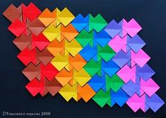 pEscher tess (mancinerie) Tags: origami papiroflexia paperfolding papierfalten tessellation francescomancini mancinerie origamifish