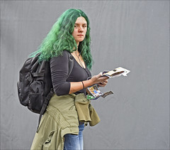 Irish Woman (Runemaker) Tags: woman irish ireland green hair