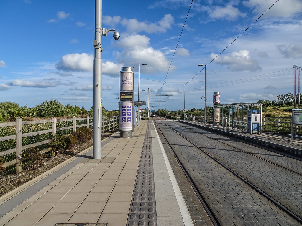 THIS IS LAUGHANSTOWN LUAS TRAM STOP [NOT LOUGHLINSTOWN]-144155
