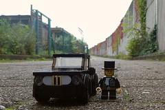 Chimney Sweeper? (captain_joe) Tags: toy spielzeug 365toyproject lego minifigure minifig moc car auto bmw 2002 ti touring 5wide black schwarz
