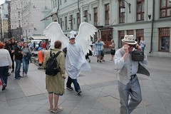 angel and... (streetphotodog) Tags: street moscow angel colour color city streetphotography colourstreetphotography fujifilmx70 x70 russia