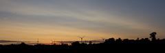 Windmills at the coastline at the Baltic Sea (kalakeli) Tags: windrader windmills sunset sonnenuntergang balticsea ostsee