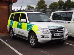 WU18 HDH Scottish Ambulance Service (C812JGB) Tags: wu18 hdh wu18hdh mitsubishi shogun scottish ambulance service 999 medic medical paramedic 911 112 glasgow scotland vehicle unit crew ambo ambulancia ambulanza