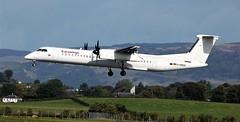 D-ABQC DHC-8 DASH EIGHT (douglasbuick) Tags: glasgow airport egpf landing eurowings prop