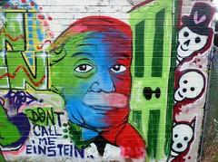 Einstein Graffiti Fulbourn Sept 2018 (symonmreynolds) Tags: einstein graffiti streetart fulbourn september 2018