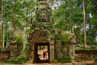 West entrance of Ta Som in Angkor Archeological Park near Siem Reap, Cambodia