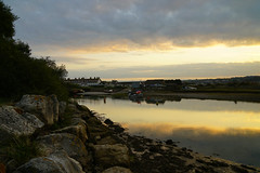 Quiet Place (JamieHaugh) Tags: seaton axmouth england uk gb britain outdoors sony alpha a7rii zeiss ilce7rm2 river rocks water sky clouds sunset evening boats nature landscape buildings harbor harbour dock port devon
