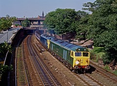 50007/D400, Chester, June 1992 (David Rostance) Tags: 50007 50050 d400 class50 englishelectric chester courtchester