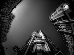Geometry (rsvatox) Tags: sky monochrome buildings sailntpetersburg architecture blackandwhite fisheye nocolor