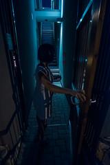 stairway to night sleep (relaxedhothead) Tags: fuji xt2 samyang 12mm f2 raw lightroom zambratija croatia stairway apartment