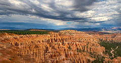 Inspiration Sky (Explore 9/22/18 #397) (Hendricks_NY) Tags: 2018 brycecanyon utah vacation unitedstates panoramic nikond7200 autostitch bryce us panorama nature landscape sky clouds dramatic canyon rocks southwest desert hoodoo nationalpark shadows explore