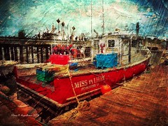 The Miss Lilly, Provincetown, MA 2018 (augenbrauns) Tags: fishingboat boat olympusomdem1ii painterly red marine dock wharf macmillanwharf creativecapecod capecod ptown provincetown netartii exoticimage