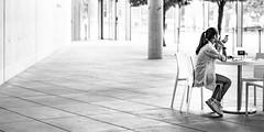Waiting and ... phone (Traveller_40) Tags: adult architecture business bw café caffee chair city culture desk exhibition female gallery indoors monochrome münchen museum one pavement people person phone seat shadow sit smartphone street streetwalk table urban waiting wear window woman biancoenero blackwhite blackandwhite blancoynegro monocromático nb noirblanc noiretblanc pretoebranco 单色 白黒