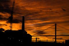 Industrial anxiety (elnassim97) Tags: industrial city savannah bridge sunset backlight sony bealpha a7riii 85mmf18 revolution river street scad burning sun flame
