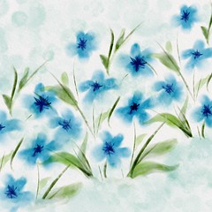 Floral Blues (Leaping Life) Tags: floral watercolour
