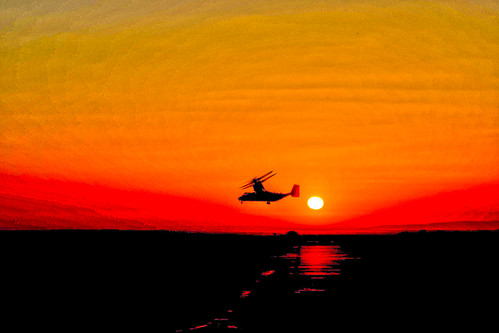 Flying by a Sunset, variant