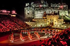 Edinburgh Tattoo Scotland. (James- Burke) Tags: vista street scotland militarybands bands audience scenic travel events shows fetes colour red people edinburghcastle stadium stage concerts edinburgh edinburghtattoo