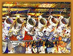 It's Oktoberfest season 🍺 (boeckli) Tags: 39749 hx9v oktoberfest beer steins humpen manly bunt photoborder ddg deepdreamgenerator textures texturen texture textur colourful colorful colours colors colour bier