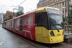 Manchester Metrolink 3043 (Mike McNiven) Tags: manchester metrolink tram lrv metro lightrail ashton ashtonunderlyne eccles mediacityuk stpeterssquare advert advertisement heartfm wrap advertwrap
